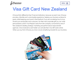 iChoose Visa gift card purchase