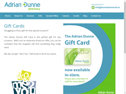 Adrian Dunne Pharmacies gift card purchase