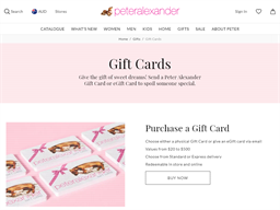 Peter Alexander gift card purchase