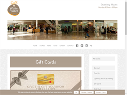 Whitewater Shopping Centre gift card purchase