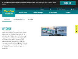 Centra gift card purchase