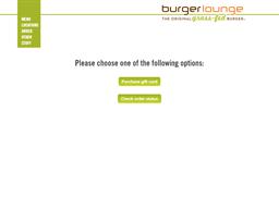 Burger Lounge gift card balance check