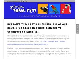 Burton's Total Pet shopping