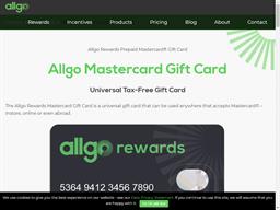 Allgo Rewards Prepaid Mastercard gift card purchase