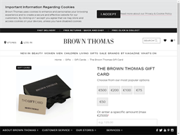 Brown Thomas gift card purchase