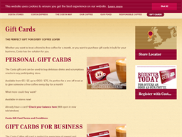 Costa Coffee gift card purchase