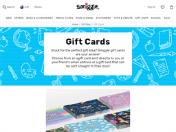 Smiggle gift card purchase