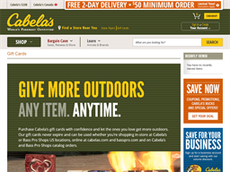 Cabela's gift card purchase