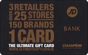 JD Sports Ireland gift card design and art work