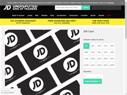 JD Sports Ireland gift card purchase
