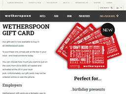 J D Wetherspoon gift card purchase