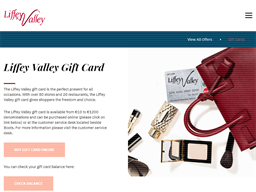 Liffey Valley Shopping Centre gift card purchase