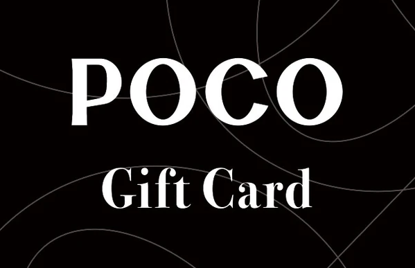 Poco Online gift card design and art work
