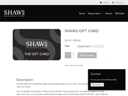 Shaws Department Stores gift card purchase