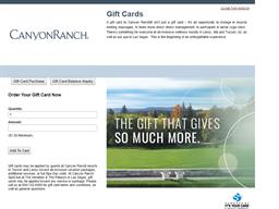 Canyon Ranch gift card balance check