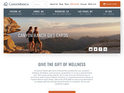 Canyon Ranch gift card purchase