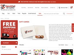 Care A Lot Pet Supply gift card purchase