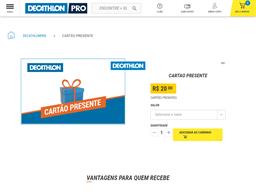 Decathlon Pro gift card purchase