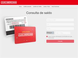 Lojas Americanas gift card balance check