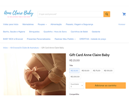 Anne Claire Baby Store gift card purchase
