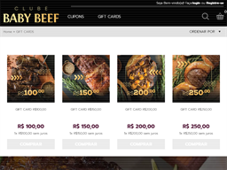 Baby Beef gift card purchase