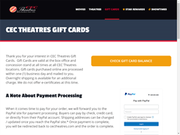 CEC Theatres gift card purchase