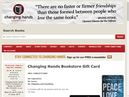 Changing Hands Bookstore gift card purchase