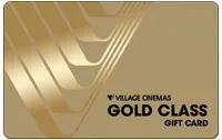 Village Cinemas Gold Class gift card design and art work