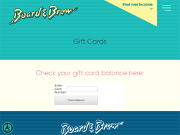 Board & Brew gift card balance check