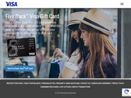 Five Back Visa Geschenkkarten Guthaben Abfrage USA - gcb.today