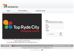 Top Ryde City Shopping Centre gift card balance check