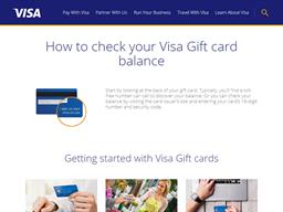 Visa USA gift card balance check