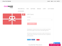 Ollie Marie Boutique gift card purchase