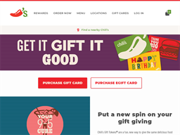 Chili's gift card purchase