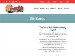 Chompie's gift card purchase