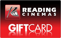 Reading Cinemas gift card design and art work