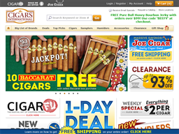 Cigars International shopping