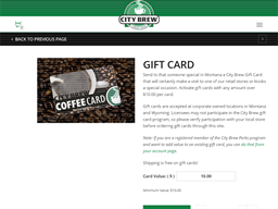 City Brew Coffee gift card purchase