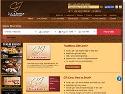 Claim Jumper Restaurants gift card balance check