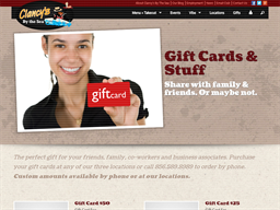 Clancy's By The Sea gift card purchase