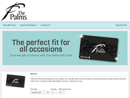 The Palms Shopping Centre gift card balance check