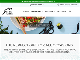 The Palms Shopping Centre gift card purchase