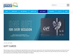 Park Beach Plaza gift card purchase