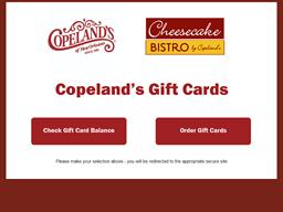 Copeland's Cheesecake Bistro shopping