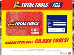 Total Tools gift card balance check