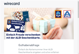 ALDI Süd gift card balance check