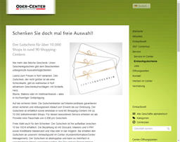 Oder-Center Schwedt gift card purchase