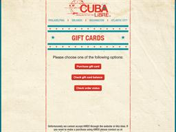 Cuba Libre gift card balance check