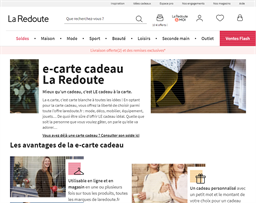 La Redoute gift card purchase
