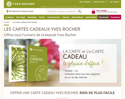 Yves Rocher gift card purchase